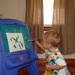 Toddler Painting!