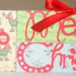 Craft Tutorial: Holiday Word Blocks!