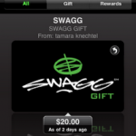 Easily Carry Gift Cards-Download the SWAGG iPhone App!