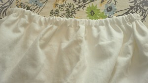 a pillow case with a finished waistline