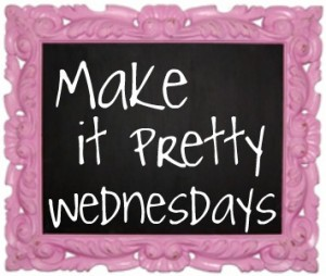 make it pretty written on a chalkboard with an ornate pink frame