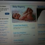 Shopping with the Walmart Baby Registry