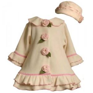 Bonnie Jean Ivory Fleece Coat