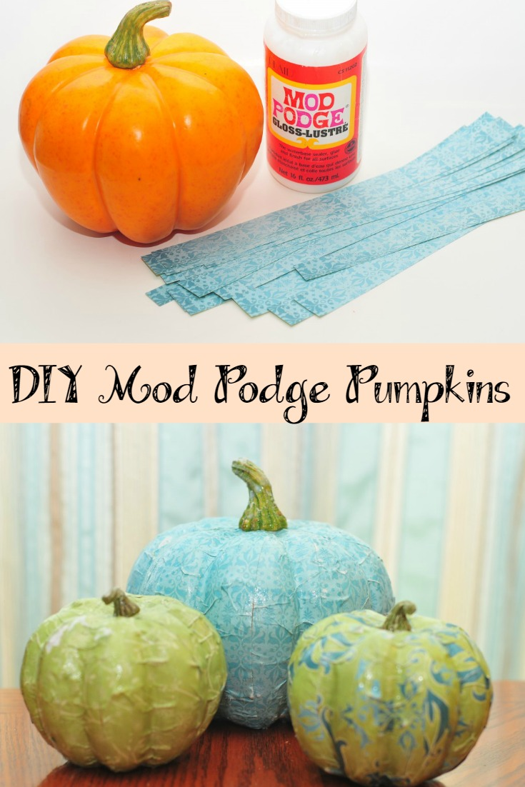 DIY Mod Podge Pumpkins