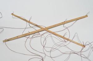 bamboo sticks with hemp string