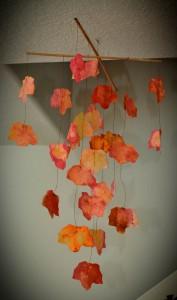 autumn leaf mobile