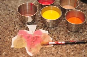 leaf being painted