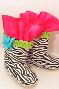 mud pie zebra rain boots