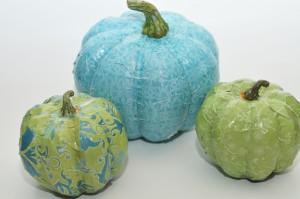 mod podged pumpkins