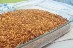 Crunchy topping coffee Cake