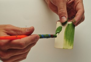 painting wood rectangles