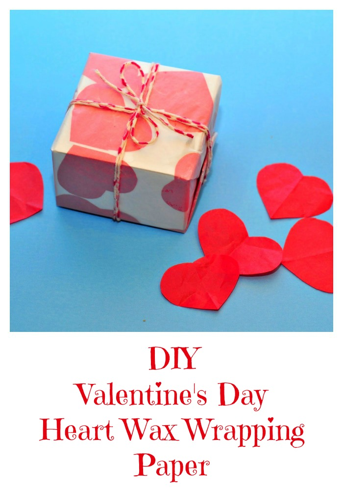 DIY Valentine's Day Heart Wax Wrapping Paper