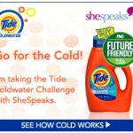 Save Energy and Keep Your Clothes Clean with Tide Coldwater!