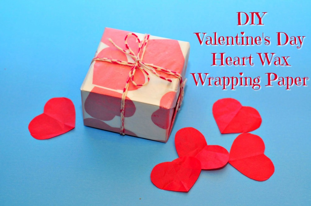 Valentine's Day Heart Wax Wrapping Paper