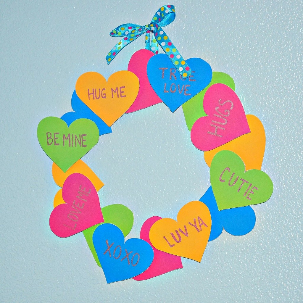 Valentine's Day Conversation Heart Wreath
