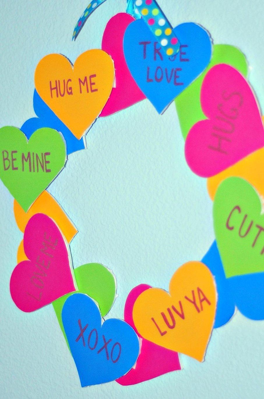 Valentine's Day Conversation Heart Wreath