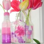 """Glad Bag Recycled Art Project: """"Stained Glass"""" Tissue Paper Vases"""