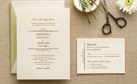 wedding paper divas letterpress