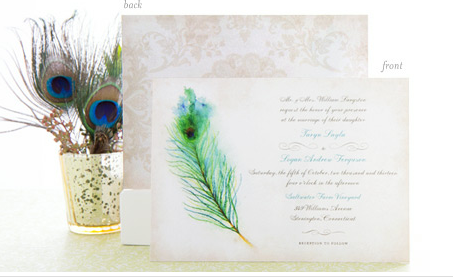 signature collection of wedding invites
