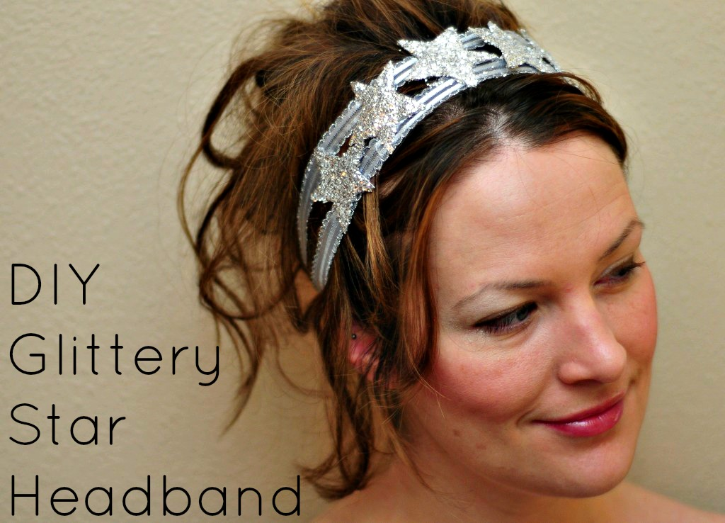 DIY Glittery Star Headband