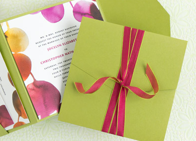Pocketfold envelope with invitation