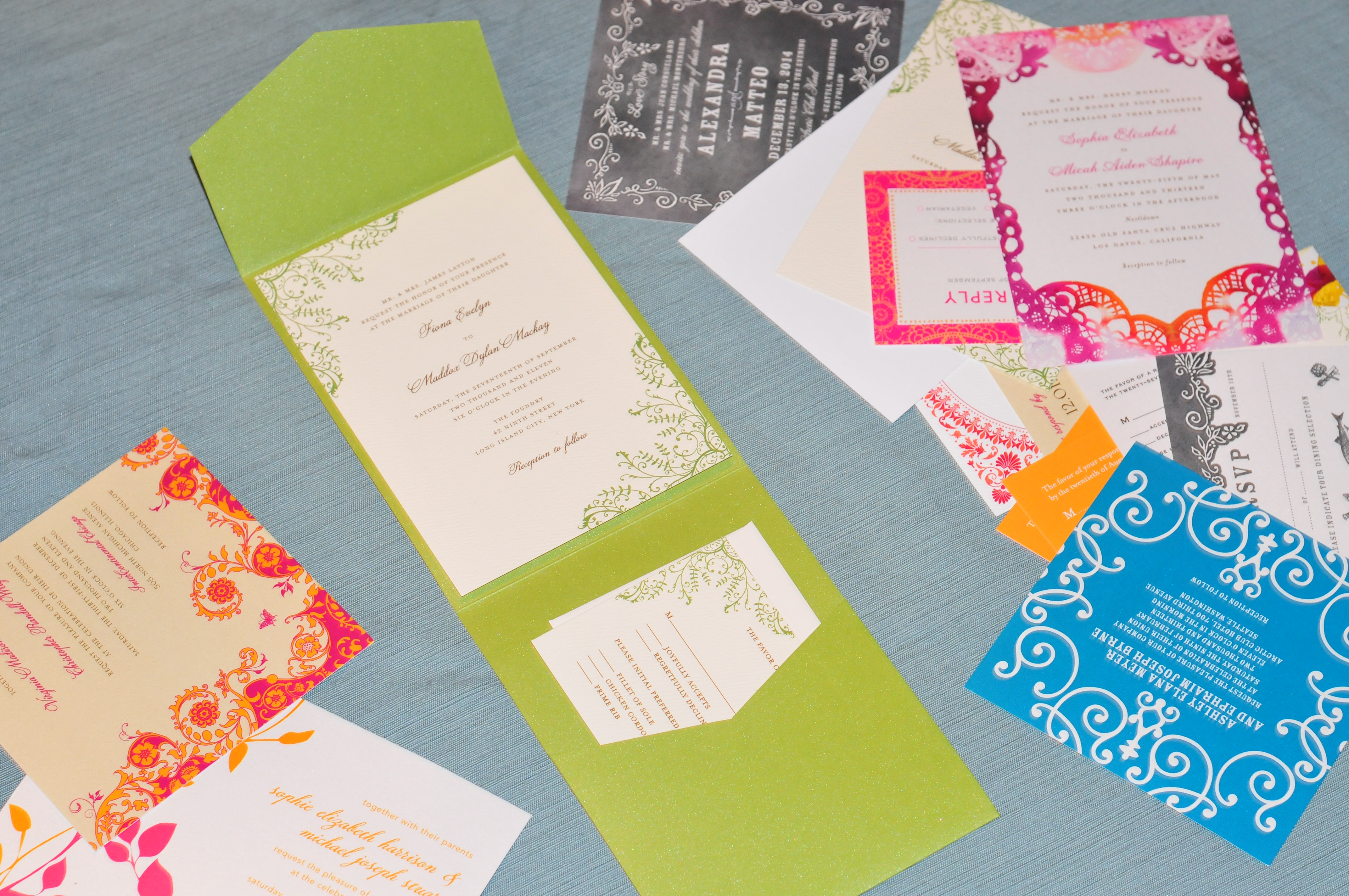 the wedding paper divas samples are here