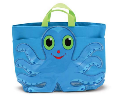 Flex Octopus Childrens Beach Tote Bag - Sunny Patch by Melissa & Doug