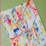 Marbling Art Rainy Day Preschool Craft