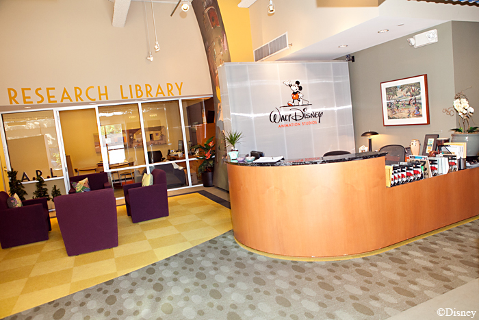 Disney Animation Research Library Lobby