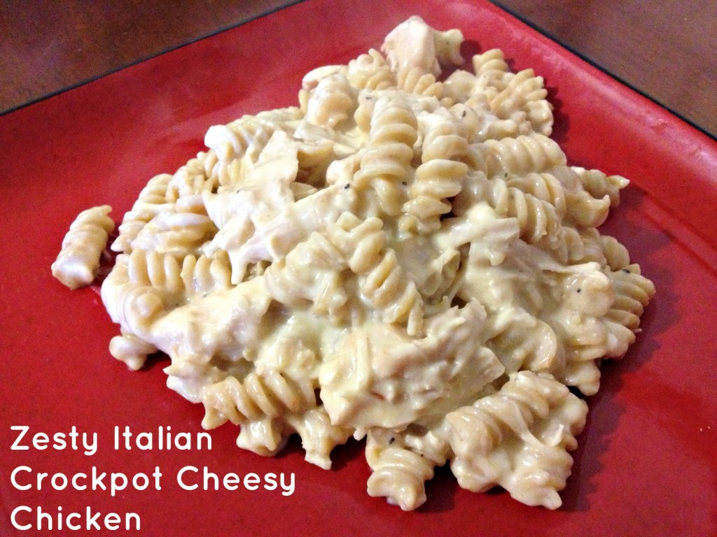 Zesty Italian Crockpot Cheesy Chicken