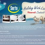 Win a Mattress with Serta's Holiday Wish List Pinterest Contest!
