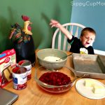 Cooking with Toddlers: Easy Cherry Dump Cake Recipe