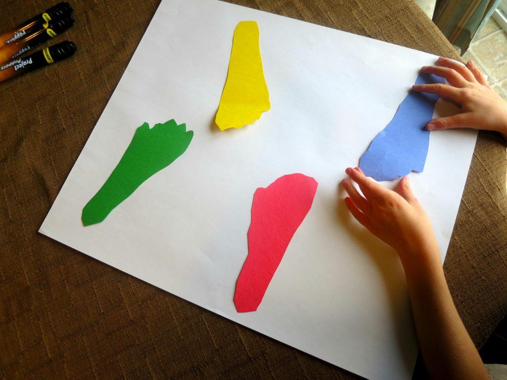 Dr Seuss Craft Gluing Feet to Paper