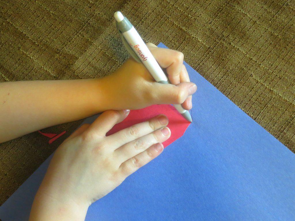 Dr Seuss Craft Using Foot Stencil