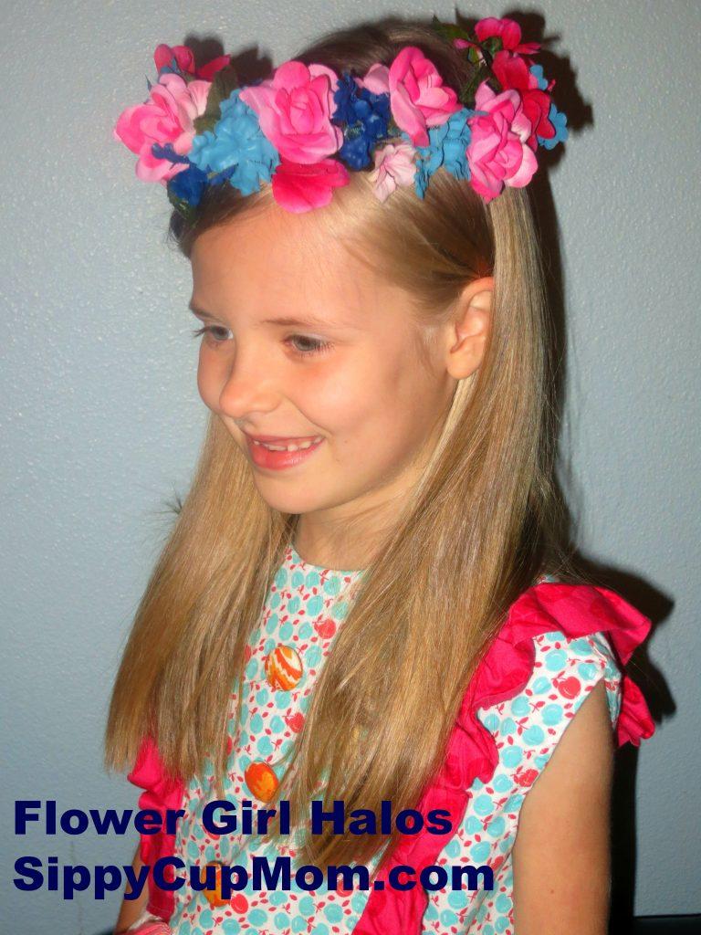 DIY Flower Girl Halos