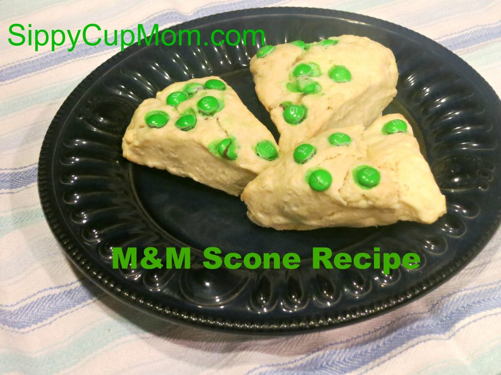 M&M Scone Recipe for St. Patrick's Day