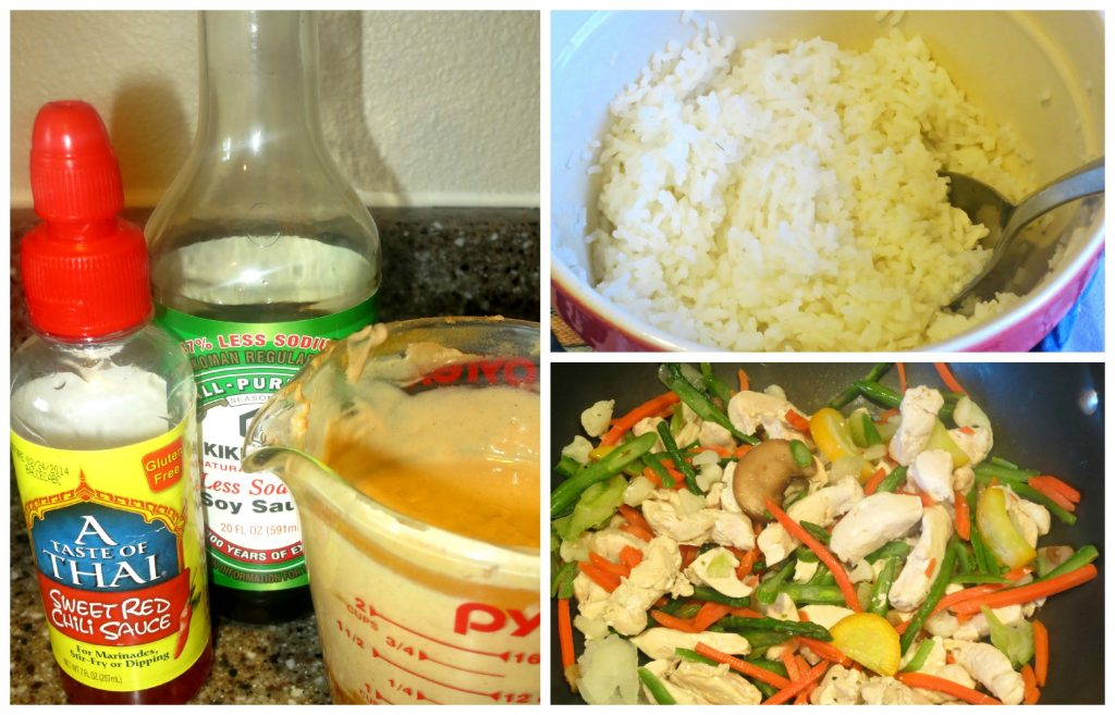 Minute Ready to Serve Rice #LoveEveryMinute Peanut Sauce, Rice & Stir Fry Collage