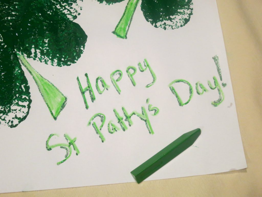 Shamrocks St Patty's Day Writing