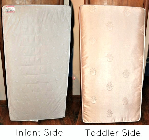 Quiet Nights Crib Mattress Infant and Toddler Side