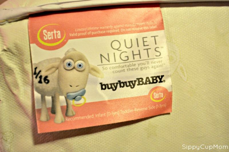 Serta Quiet Nights Mattress Label