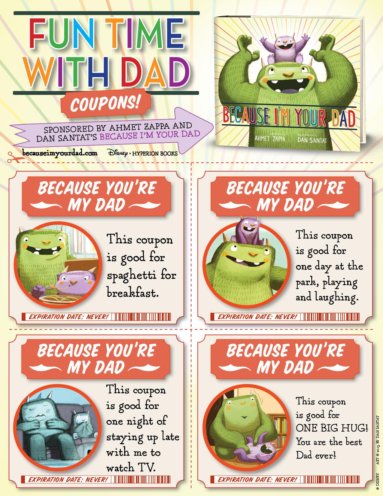 Printable fathers day coupon
