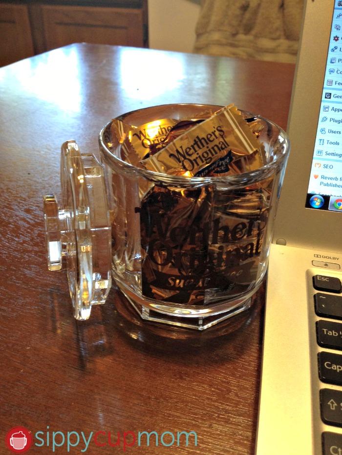 Werthers Candies Jar