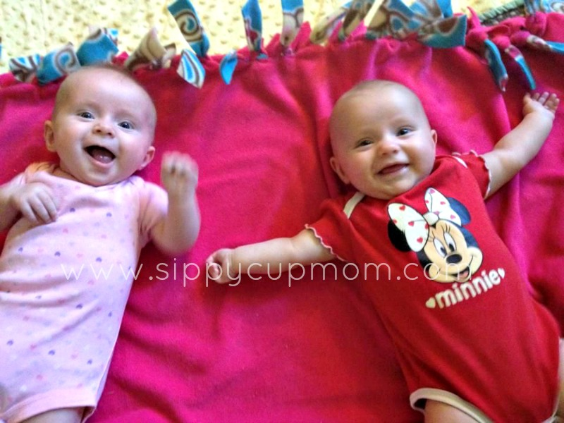Twins 4 Months Happy