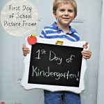 Back To School Craft – First Day of School Picture Frame