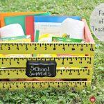 Back To School Craft – Teachers Crate for School Supplies