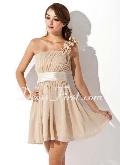 One Shoulder Homecoming Dress