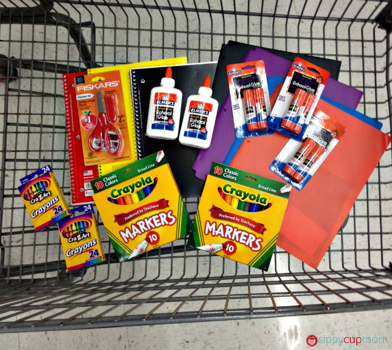 Donating school supplies with bag it forward and champions for kids #shop #bagitforward