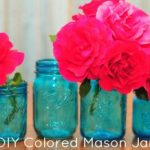 DIY Colored Glass Mason Jars
