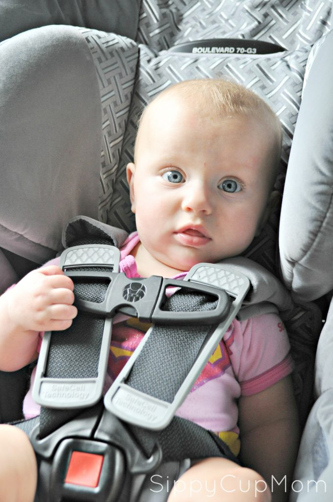 Evie in Car Seat