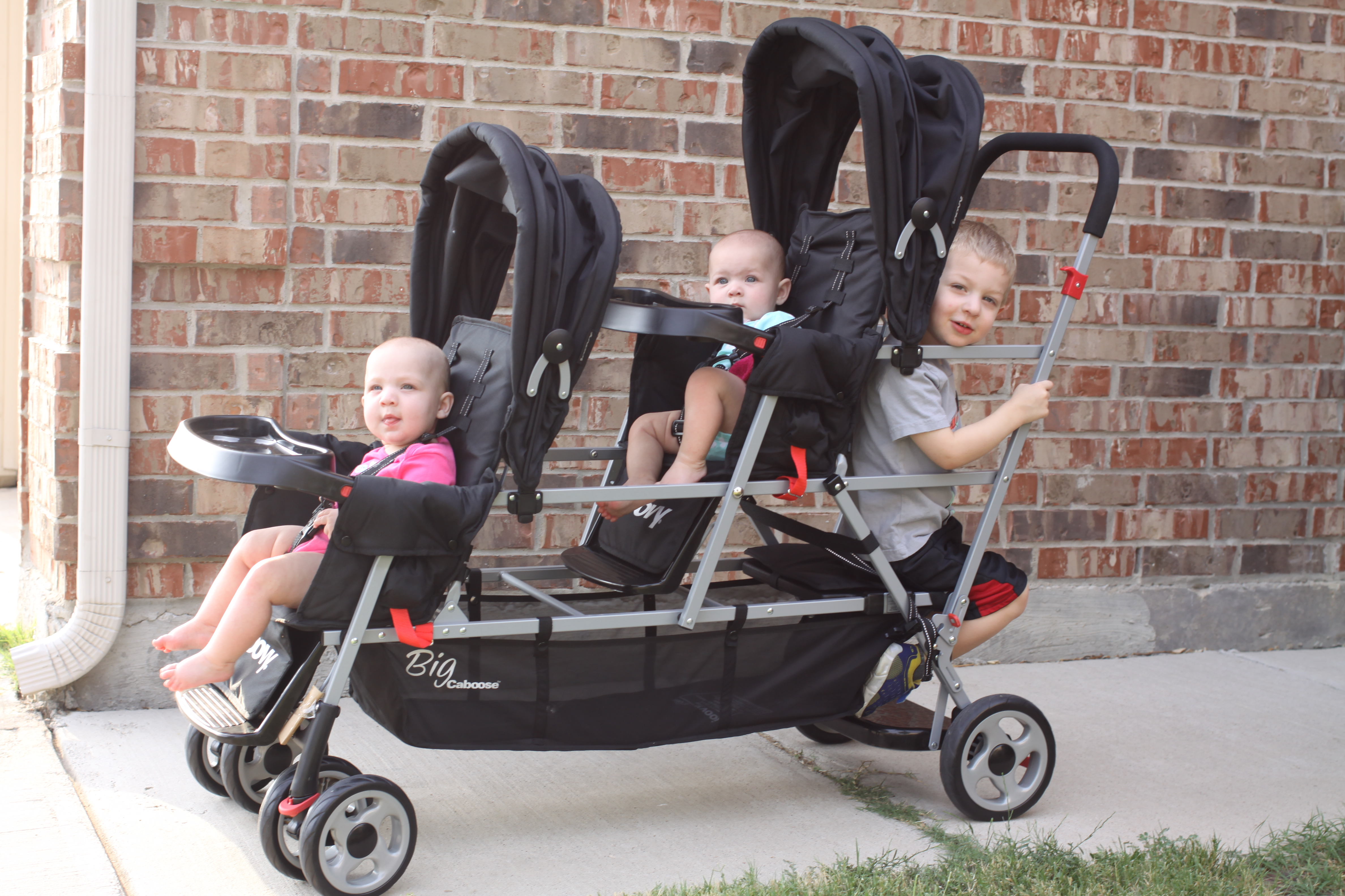 Joovy Big Caboose Stand On Triple Stroller Review Sippy Cup Mom